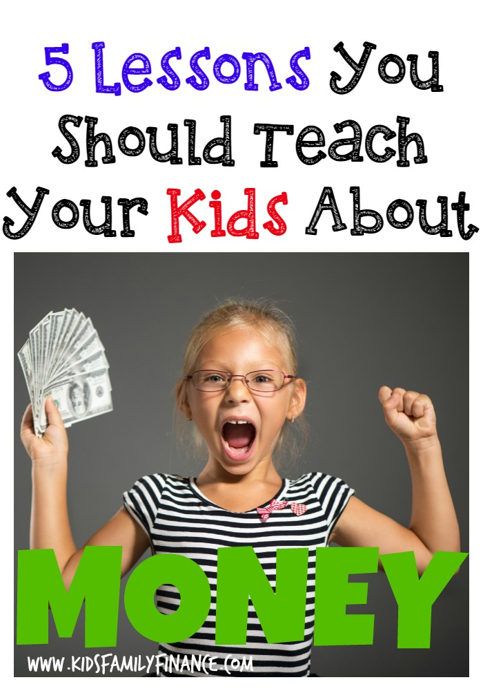 The 5 Most Important Things To Teach Your Kids About Money Pin