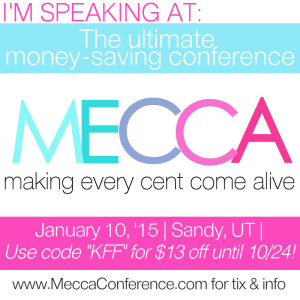I'm Speaking at the MECCA Conference