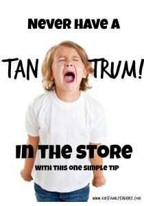 Never Have A Tantrum In the Store